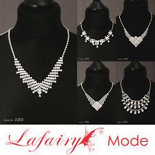Halskette Kette für Hochzeit Party feierlichen Anlässen mit Strass Perle Lafairy