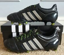low priced c5e61 e2faa ADIDAS ACE 15.1 FG AG in Pelle   versione PRO   Nero Argento Metallico  giallo so.