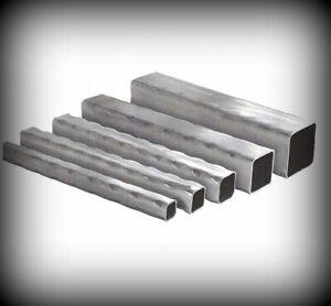 Vierkantrohr gehämmert 15 bis 50 mm Länge 2000 mm Stahlprofil Quadratrohr Stahl