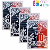 4 Decks Copag 310 Double Back Poker à Jouer Cartes Paper (Papier) Magie Rouge