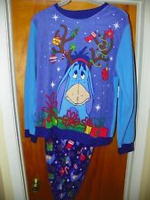 NEW Women's SLEEPWEAR Pajama Set CHRISTMAS Disney Winnie EEYORE LARGE 12/14 XM21