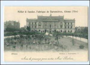 U8426/ Hamburg Altona Rathaus Möller & Sander Fabrique de Barometres AK ca.1900