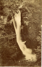 France, La Bourboule, Cascade du Plat à Barbe, ca.1900, vintage citrate print Vi