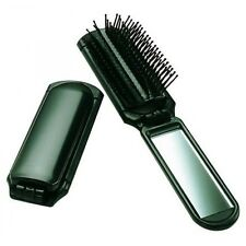 Folding Hair Brush With Mirror - Compact Pocket Size  --  FREE SHIPPING!