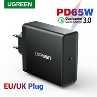 Ugreen PD 65W Charger USB type C Charger QC 3.0 Fast Charger for Laptop Phone