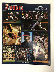 1983 California Angels MLB Baseball Yearbook - Reggie Jackson - Rod Carew