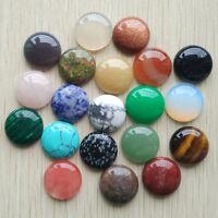 Fashion natural stone mixed round shape CABOCHON Beads 20pcs/lot wholesale 20mm