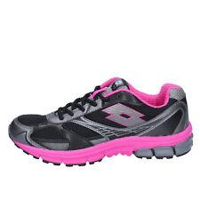 scarpe donna LOTTO 40 EU sneakers nero fucsia tessuto BY865-40
