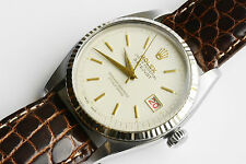 1956 Rolex Datejust big bubbleback 6305 2 red/black roulette date Brevet+