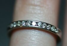 .30 CTTW 11 Natural Round Diamond 14K White Gold Wedding Band /Stackable Ring SI