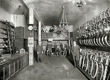 "1919 Bicycle Shop Photo, DC, Antique, BIKE STORE, 20""x16"" Print, Vintage Cycle"