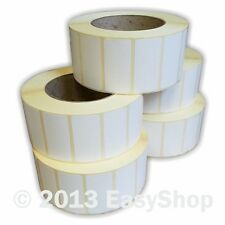 More details for 50mm x 25mm white thermal direct zebra tec printer label 1000 per roll 25mm core
