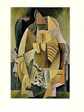 """1964 Vintage PICASSO """"WOMAN IN AN ARMCHAIR"""" ABSTRACT COLOR offset Lithograph"""