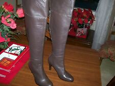 Ralph Lauren Beatrice,Brown Leather over the knee boots,Women's 6(BM) 3.5'' HEEL
