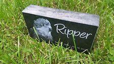 "Personalized Pet Stone Memorial Grave Marker 4"" x 7"" x 2"" Doberman Pinscher"