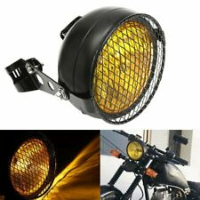 """6 1/2"""" 6.5"""" Retro Motorcycle Headlight Grill Side Mount Cover For Cafe Racer New"""