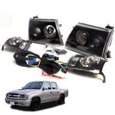 Fit 2001+ Toyota Hilux SR5 D4D MK4 Head Lamp light Corner Lamp Unit 1 set Black