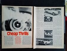 Vintage 1972 Supercars - 4 Page Article - Free Shipping