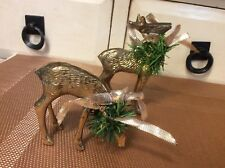 Vintage Brass Pair Deer Buck & Doe small