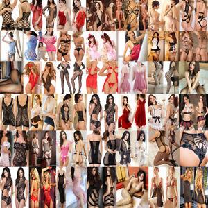 Lot Women Sexy Lingerie Lace Dress G-string Underwear Babydoll Sleepwear Sets