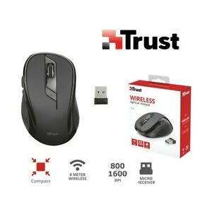 Wireless Optical Mouse 6 Buttons 1600 Dpi Windows Mac Trust Ziva 21949