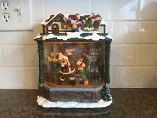 Kirkland Water Window Santa Elves Toy Shop, Lights  Musical Water Globe