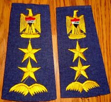 IRAQI AIR FORCE ( COLONEL ) SHOULDER BOARDS RANKS . FROM IRAQ