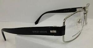GIORGIO ARMANI GA811 SILVER BLACK RZS EYEGLASSES FRAME RX 54-17-135 ITALY METAL