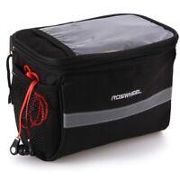 Waterproof Bicycle Bike Handlebar Front Tube Pocket Basket Storage Map Bag D