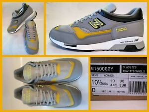 BNIBWT - NEW BALANCE - M1500 GGY - MADE IN ENGLAND - GREY / YELLOW - UK 10