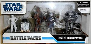 Battle Pack HOTH RECON PATROL K-2PO R5-M2 Droid The Legacy Collection Star Wars
