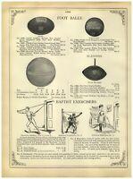 1902 PAPER AD Goldsmith Leather Melon Football Baseball Catchers' Mask