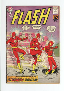 """FLASH #132 - GREAT COVER, """"The Heaviest Man Alive!"""" - 1962"""