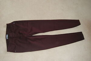 Ladies Dorothy Perkins EDEN Skinny Stretch Jeans / jeggings Size 10R Burgundy