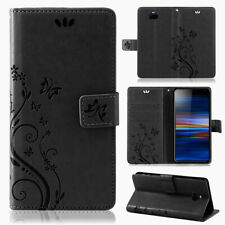 Sony Xperia 10 Pouch Wallet Case Flower Flip Cover New