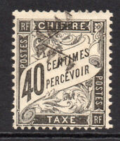 France Colonies 40 Centimes Postage Due Stamp c1881-92 Used (5548)