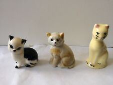 Vintage beautiful three cats figurines doing different things #2
