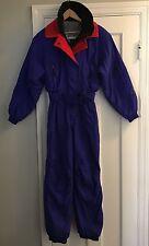 Vintage EDELWEISS Skiwear Snow Suit Coveralls Pants Size 4 Winter Purple Hip Hop