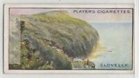 Clovelly Devon Bristol Channel England 100+ Y/O Trade Ad Card
