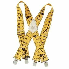 "2"" TAPE MEASURE SUSPENDERS - ONE SIZE FITS ALL - YELLOW"