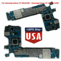 32GB Main Motherboard For Samsung Galaxy S7 SM-G930A Unlocked Logic Board Parts