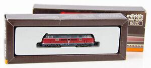 Vintage Marklin Mini-Club 8820 German Z Scale Diesel Locomotive DB 221 131-6