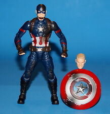 MARVEL LEGENDS CAPTAIN AMERICA BATTLE DAMAGE CIVIL WAR 3 PACK LOOSE COMPLETE