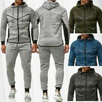 Ensemble combinaison de jogging homme Sweat Blouson Zip Pantalon Fitness Sport