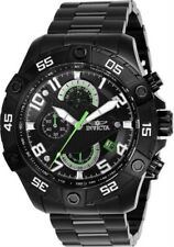 Invicta Men's Watch S1 Rally Black and Silver Tone Dial Black Bracelet 26101