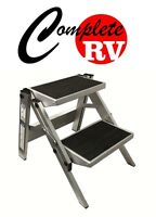 Double Folding Caravan Step Portable RV Accessories Ladder Camper Motor Home