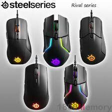 GENUINE SteelSeries Rival Optical Ergonomic Wired Gaming Mouse Tactile Alert RGB