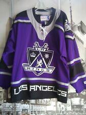 VTG  Authentic CCM Los Angeles Kings NHL Jersey SZ XL Black Blank Pro Cut