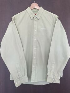 supreme washed twill shirt SS19 Pale Green
