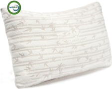 🔥Bamboo Shredded Memory Foam Pillow Hypoallergenic Washable Cover King or Queen
